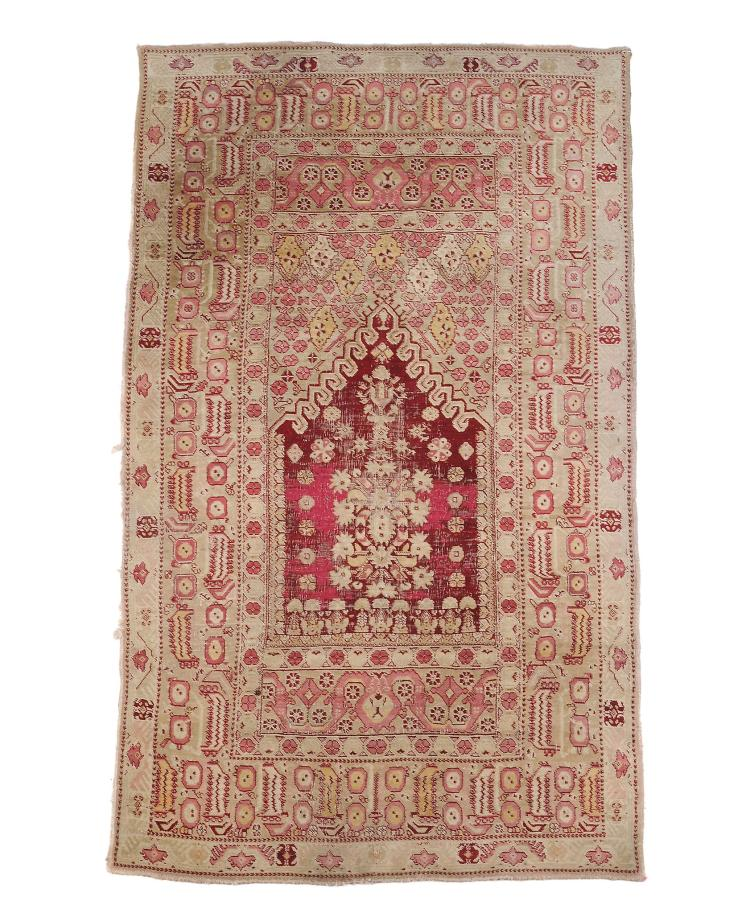 An Agra prayer rug , approximately 230cm x 123cm Provenance