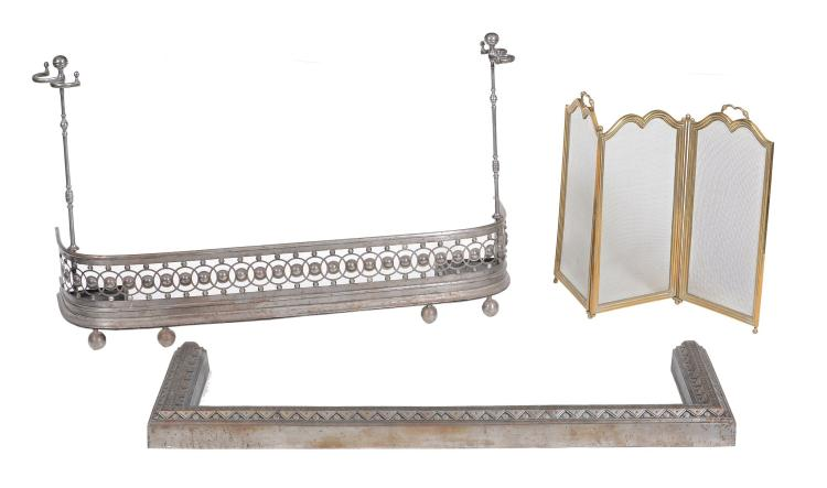 A Regency steel fender, circa 1815, of 'D' shaped section