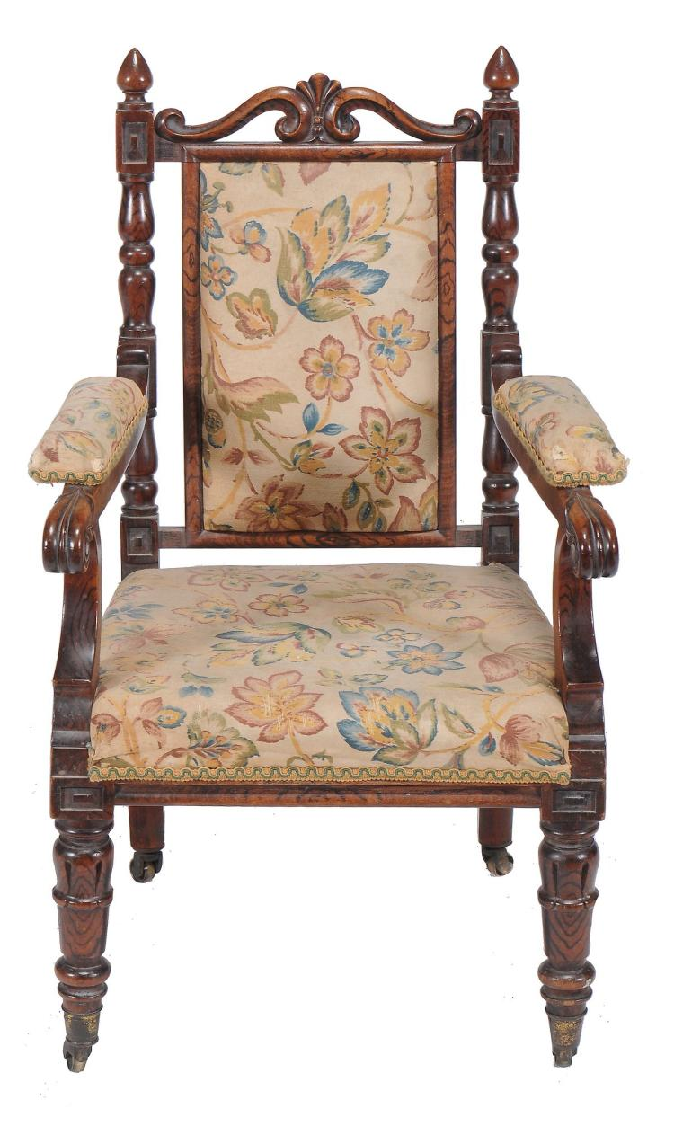 A George IV simulated rosewood child's armchair , circa 1825, 68cm high