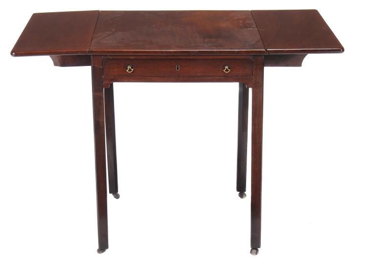 A George III mahogany Pembroke table , circa 1760