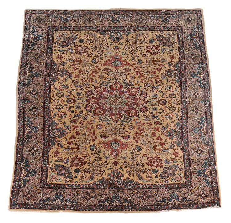 A Tabriz carpet, approximately 281cm x 186cm