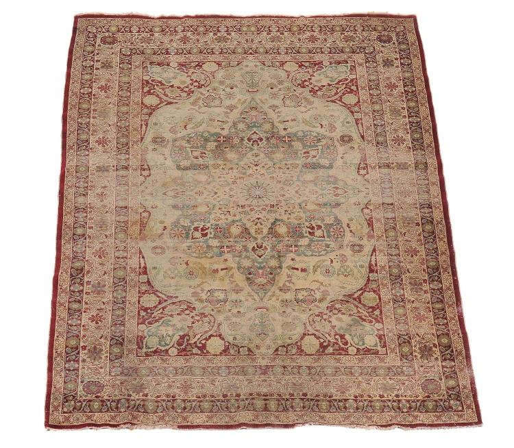 A Tabriz rug, approximately 200cm x 286cm