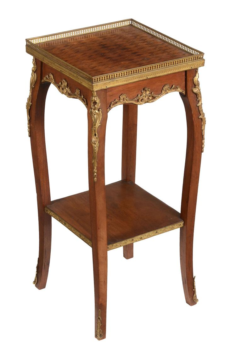 A gilt metal mounted parquetry occasional table , early 20th century, 68cm high