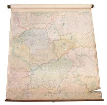A large map showing the hunting counties of the East Midlands , unsigned