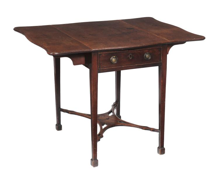 A George III mahogany Pembroke table , circa 1780, with