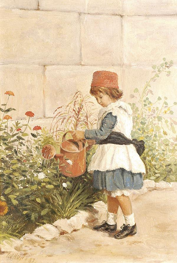 Charles Henry Hunt (1857-1938) The head gardener