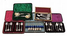 A cased pair of late Victorian silver Apostle spoons by James Deakin & Sons