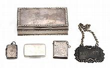 A silver rectangular box by Goldsmiths & Silversmiths Co. Ltd