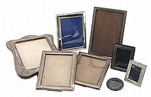 A collection of silver mounted photo frames, to include
