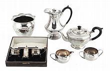 A silver circular tea pot by Marson & Jones, Birmingham 1932