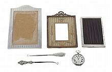 An Edwardian silver mounted rectangular photo frame by William Comyns