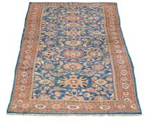 A Ziegler Mahal carpet, the ultramarine field decorated with large boteh