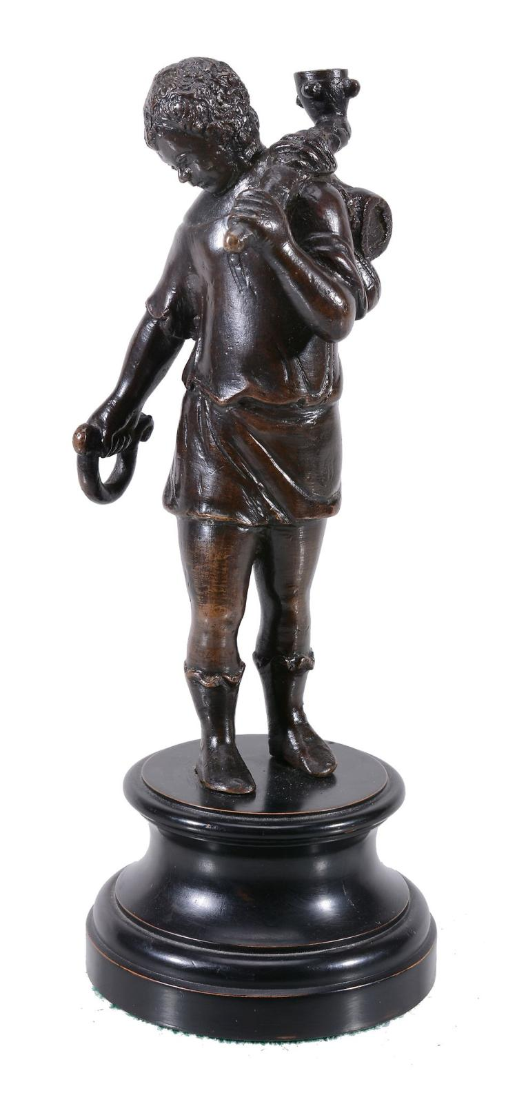 A bronze model of a young man, sometimes called Tobias