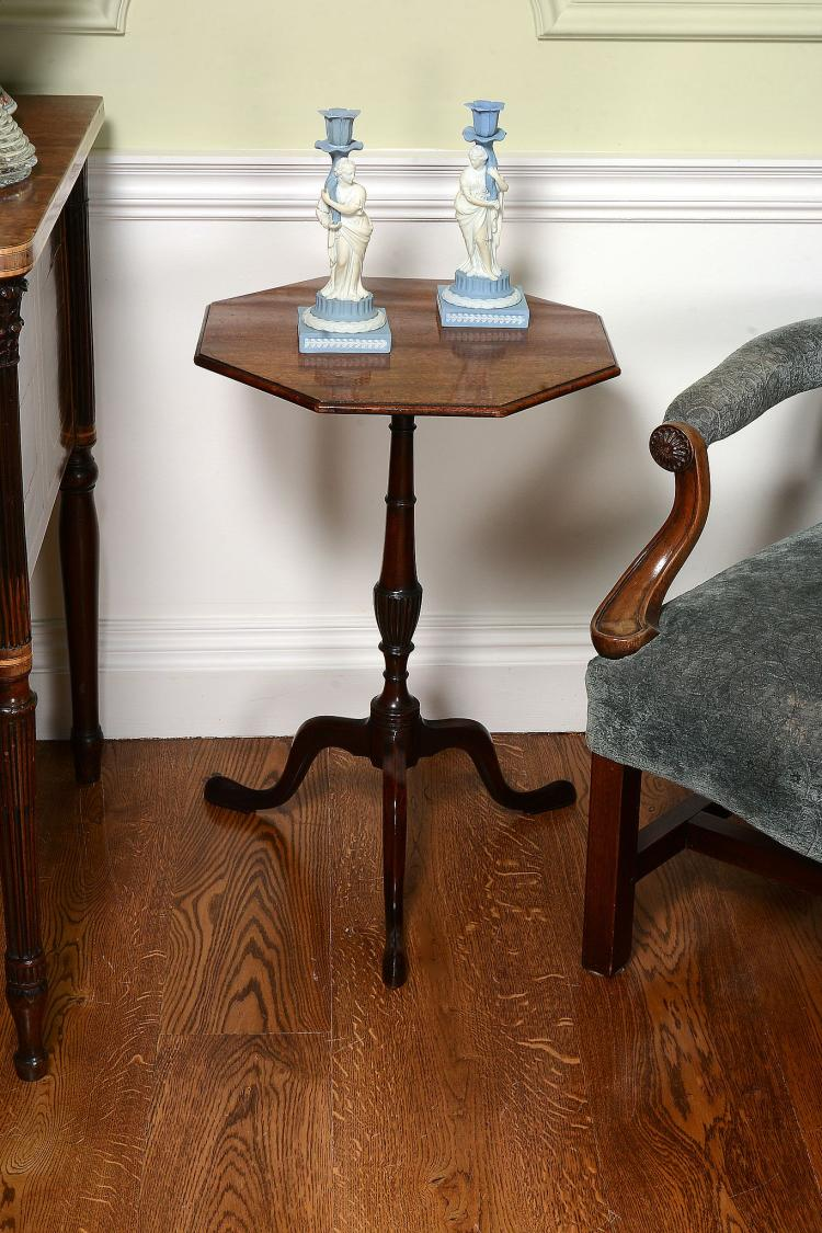A George III mahogany tripod table , circa 1775