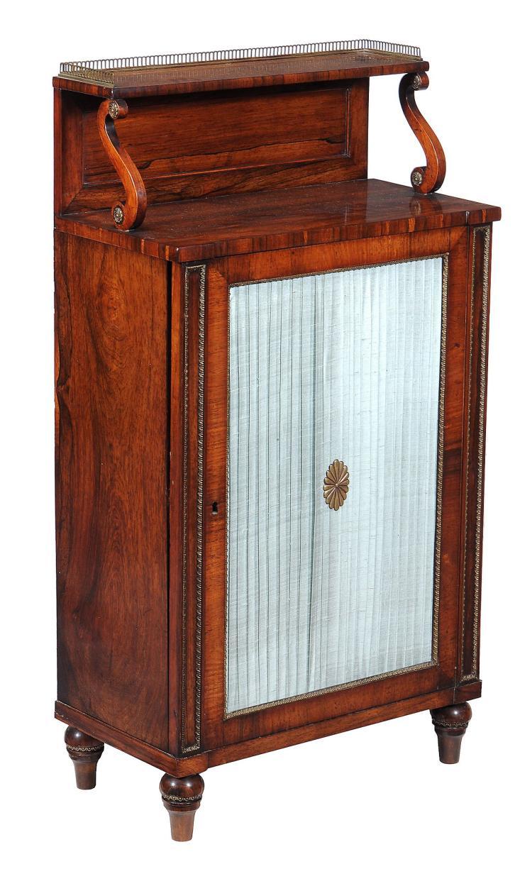 A Regency rosewood specimen cabinet , circa 1815