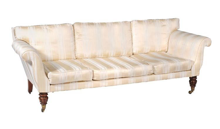 A William IV padouk and upholstered sofa , circa 1835