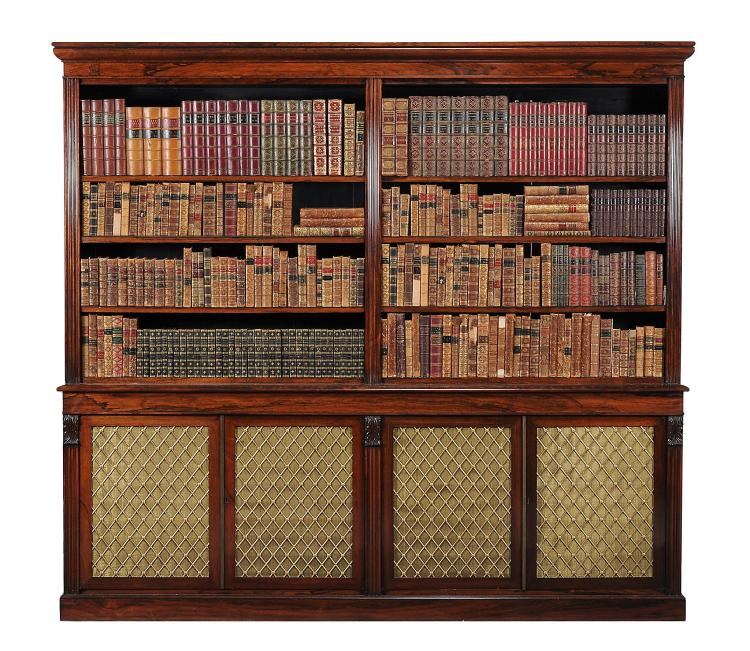 A William IV rosewood library bookcase, circa 1815