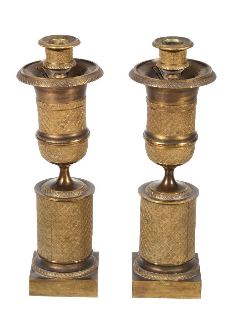 A pair of Charles X ormolu cassolettes, circa 1825