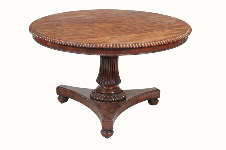 A William IV mahogany centre table, circa 1830, attributed to Gillows
