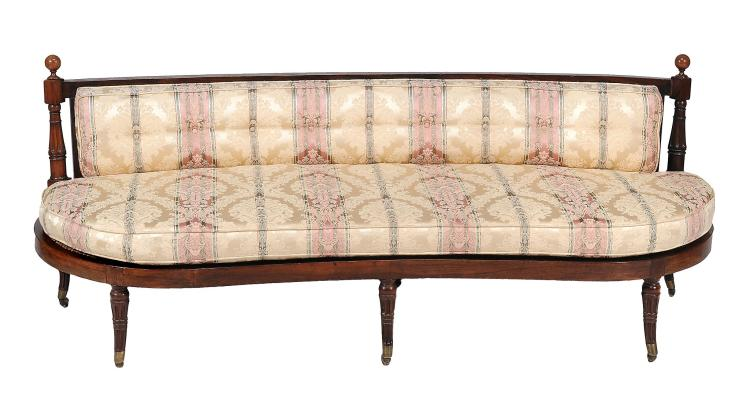 A Victorian rosewood and simulated rosewood window seat, circa 1890