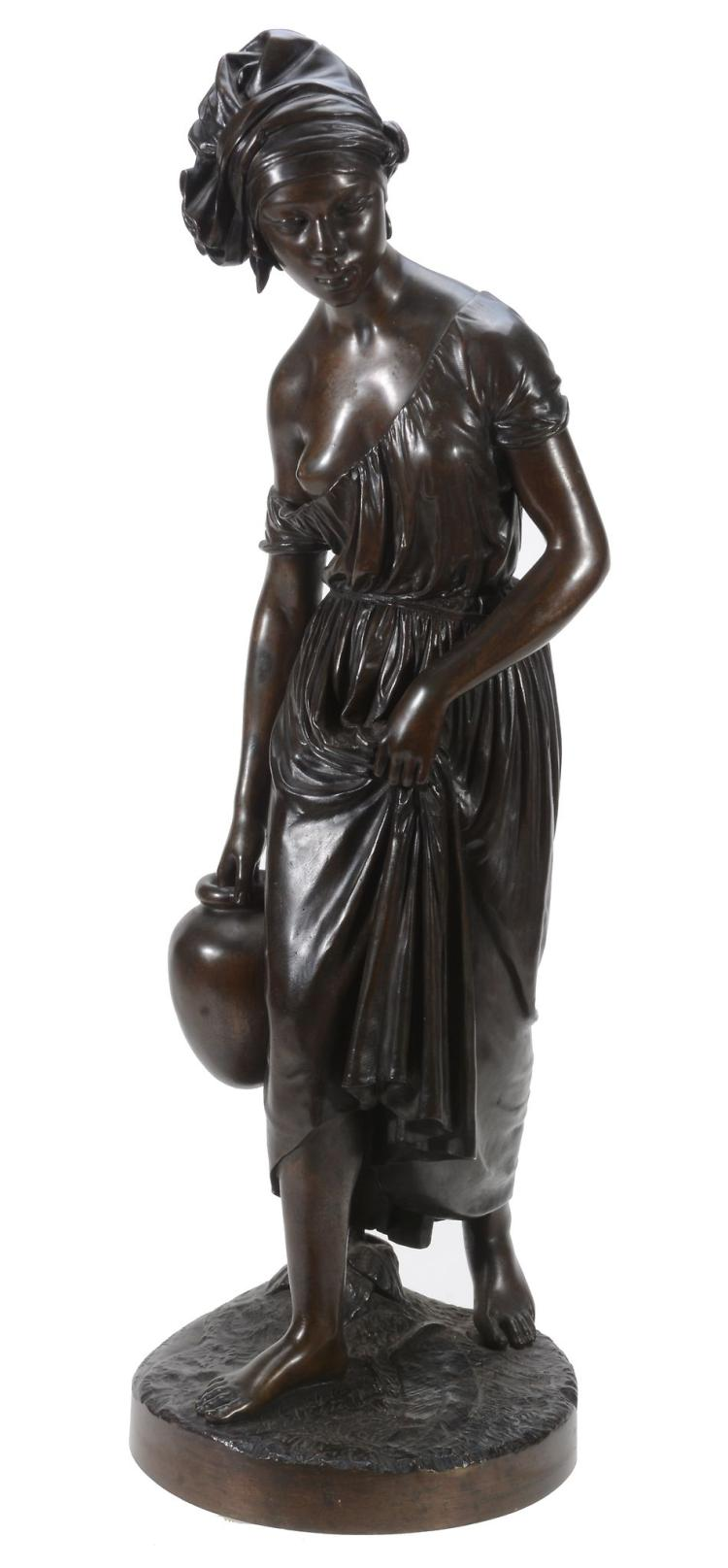 Charles Cumberworth, , a patinated bronze model of a Nubian maiden