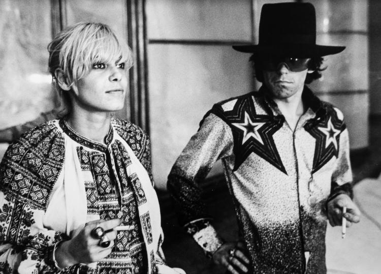 Emilio Lari (active 1960s-80s) - Anita Pallenberg and Keith Richards on Barbarella film stage, 1967