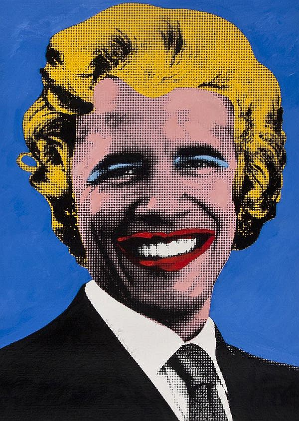 DDS. Mr Brainwash (French, b.1966) Obama Marilyn,