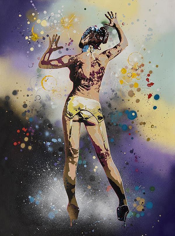 Goldie (British, b.1969) Stella, 2009, Spray paint