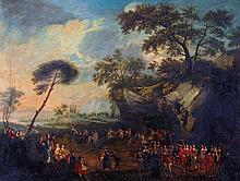 Follower of Jean Antoine Watteau, A village fete,
