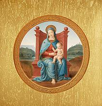 Italian School (19th century), The Enthroned