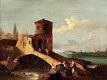 Follower of Giovanni Battista Cimaroli, Figures in