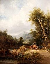 William Shayer (1787-1879), Cattle in a rocky