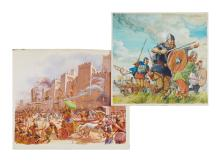 Historical.- - a small group of illustrations of medieval subjects,