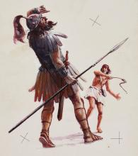 Macdonald Bible Stories.- - David and Goliath,
