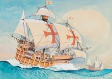 McDowell, - a group of illustrations of ships,