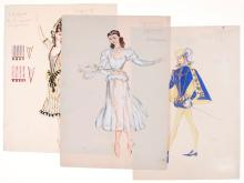 Bruni (Tatiana) - 3 original costume designs,