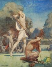 Osmond (Edward) - An allegorical or mythological golfing scene,