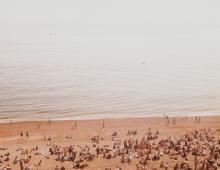 James Burns (active 1990s) - Brighton Beach; Jumping Boy, ca. 1990