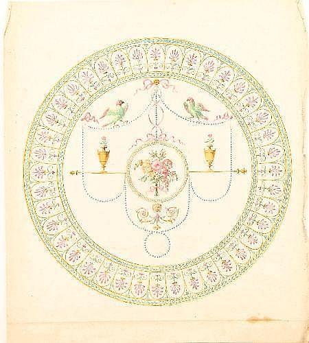 Robert Adam (1728-1792) Two designs for schemes at