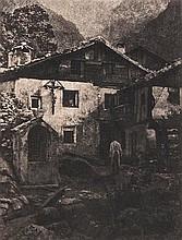 Hans Watzek (1848-1903). A Village Corner, 1906.