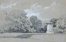 James Duffield Harding (1798-1863) - Grosvenor Square, London,