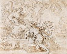 Genoese School (18th century) - Tobias and the Angel,