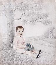 Thomas Richmond (1771-1837) - Portrait drawing of the infant George Richmond,