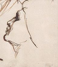 George Richmond RA (1809-1896) - Classical head study,