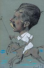 Marcel Pic (fl. late 19th century) - Caricature of a polo player,