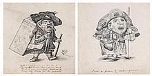 Emily Eden (c.1797-1869) - A pair of caricatures,