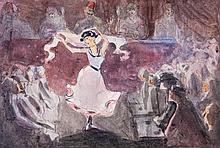 Attributed to Arthur Hacker - Dancing girl in a café, Tunisia,