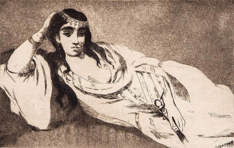 Edouard Manet (1832-1883) - L'Odalisque couchee,