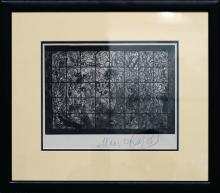 Chagall, Marc - Glossy, black and white photograph of Chagall