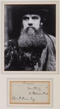 Hunt, William Holman - Final part of an autograph letter signed to Charles P